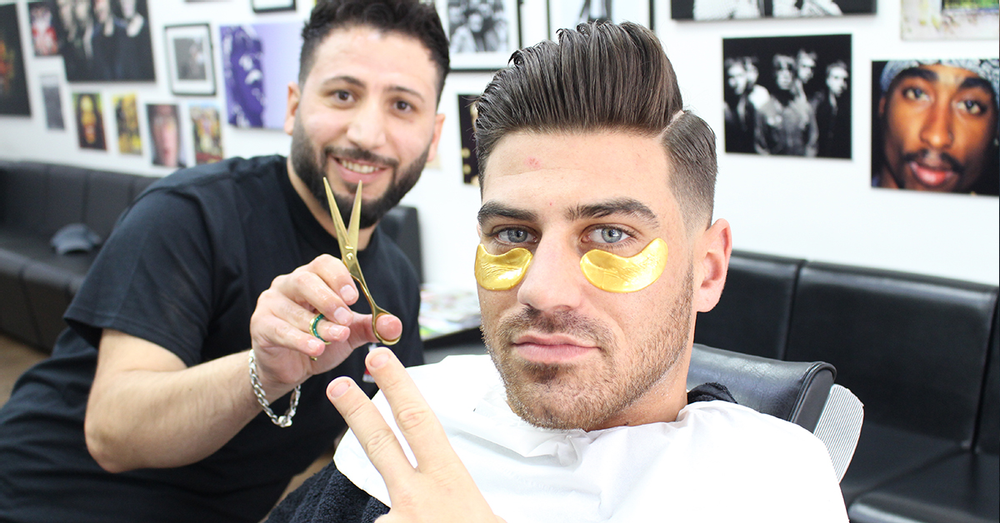 Chris Clark and Jon Clark from The Only Way is Essex Vist Kings Barbers Club in Harborne for a Hairc